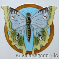 Butterfly tile antique