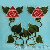 Roses on tile historic