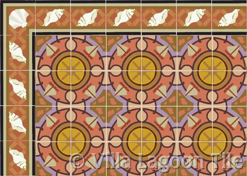 Cuban tile for outdoor courtyards