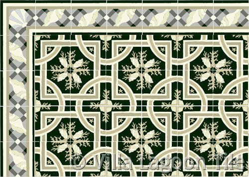 cuban style tile floor in cement tile