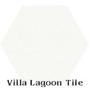 In Stock Solid Hex White Cement Tile