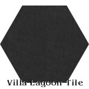 In Stock Solid Hex Black Cement Tile