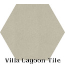 In Stock Solid Hex Dove Cement Tile
