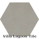 In Stock Solid Hex Heron Gray Cement Tile
