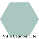 In Stock Solid Hex Seaside Blue Cement Tile