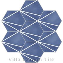 """Crow's Feet Blue"" Admiral Cement Tile"