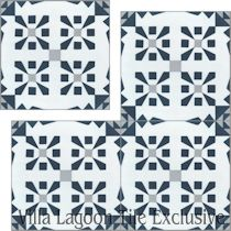 """Dorottya Navy"" Cement Tile"