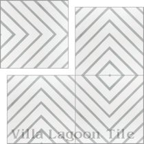 """Labyrinth Misty Gray"" Cement Tile"