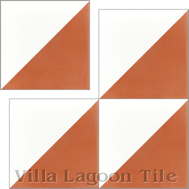 """Man Overboard Terracotta & White"" Cement Tile"
