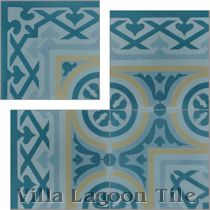 """Mas Equis Border for Bolero Playa"" Cement Tile"