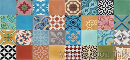 Colorful Patchwork Cement Tile