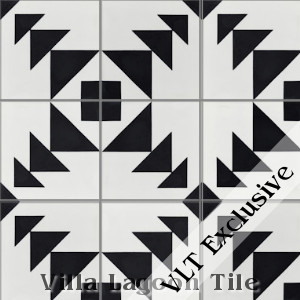 """Code Talker A"" Cement Tile, from Villa Lagoon Tile."