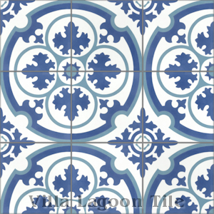 """Danielle Admiral"" Cement Tile, from Villa Lagoon Tile."