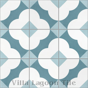 """Katie Velvet Sky"" Cement Tile, from Villa Lagoon Tile."