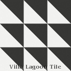 """Man Overboard Black & White"" Cement Tile, from Villa Lagoon Tile."