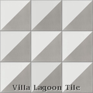 """Man Overboard Featherstone & White"" Cement Tile, from Villa Lagoon Tile."