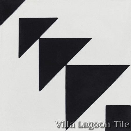 """Code Talker A"" Cement Tile from Villa Lagoon Tile"