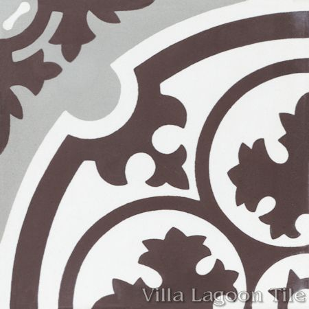 Danielle Espresso cement tile, from Villa Lagoon Tile.
