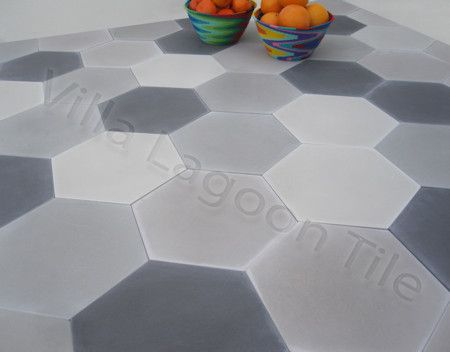 Mixed Gray Hex Tiles