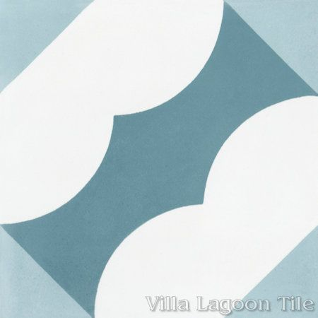 Katie Velvet Sky cement tile, from Villa Lagoon Tile.