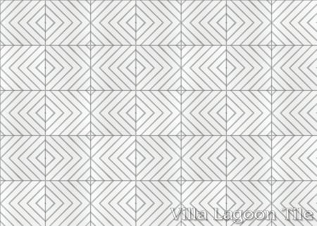 """Labyrinth Misty Gray"" cement tile, from Villa Lagoon Tile."