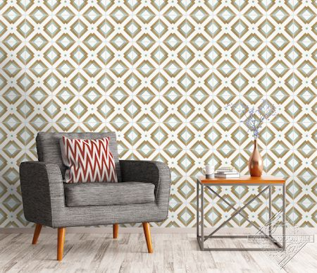 Manhattan Cement Tile Accent Wall,from Villa Lagoon Tile.