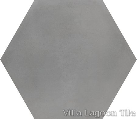 Mixed Gray Hex Cement Tile, from Villa Lagoon Tile.