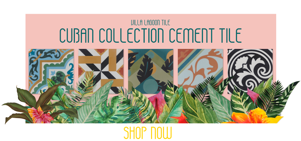 Villa Lagoon Tile's new Cuban Tile collection of cement tile.