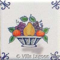 holland type tile with fruit