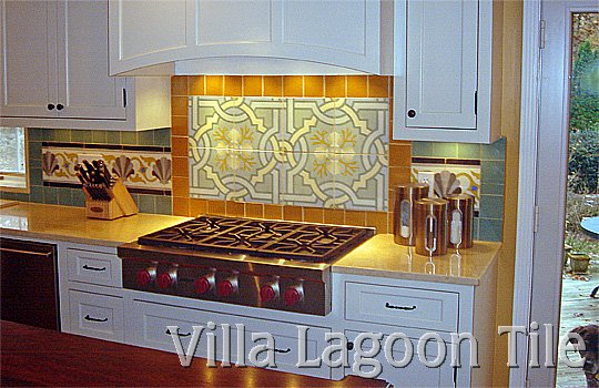 Cement tile installed in kitchen