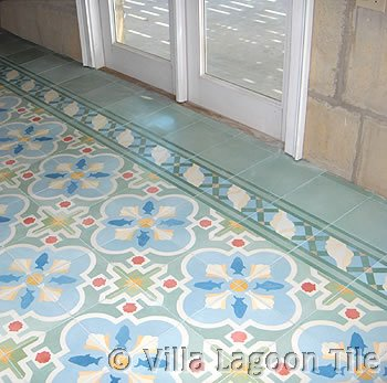 Beach house floors concrete tile