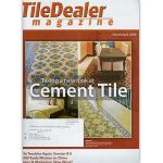 The cover of Tile Dealer Magazine, March 2008