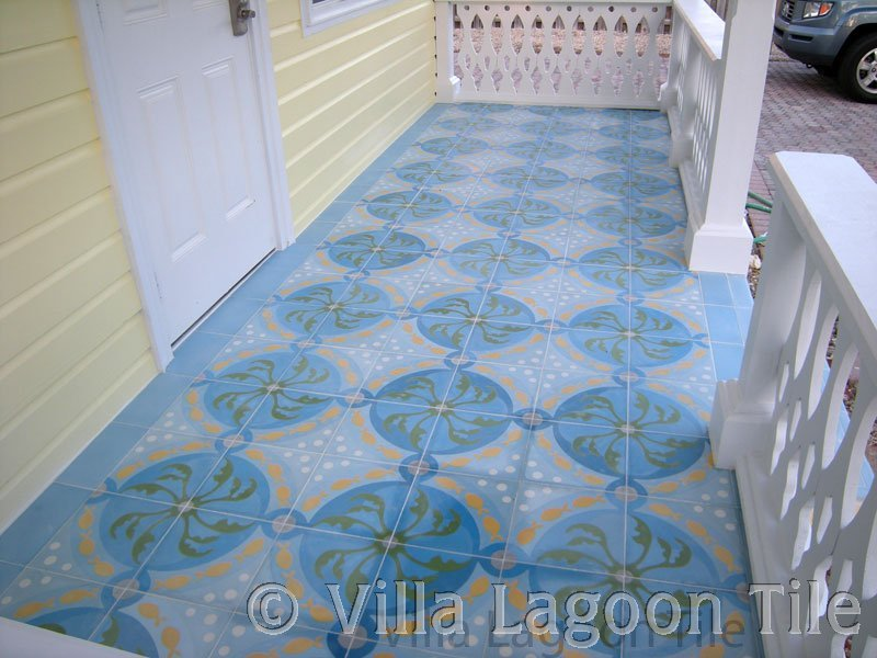 Cuban tile front porch